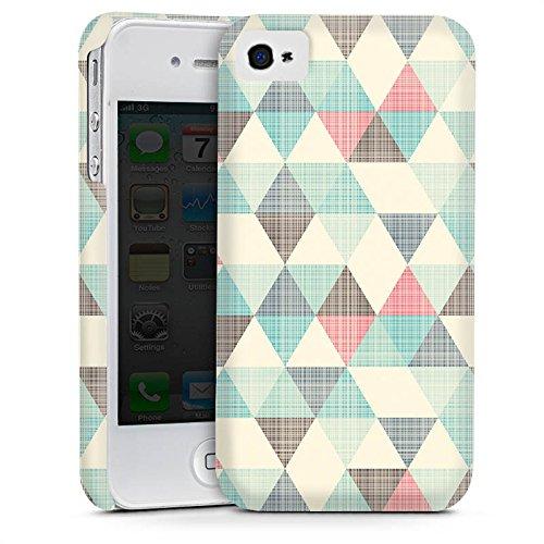 Apple iPhone 5c Housse Étui Protection Coque Triangles rétro Motif Motif Cas Premium mat