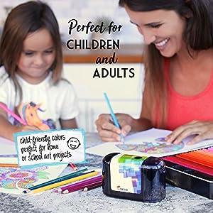 51KYxt81R8L. SS300  - Lpices-de-Colores-72-120-con-Caja-de-Metal-de-Zenacolor-72-y-120-Colores-nicos-Fcil-Acceso-con-Bandejas-Conjunto-Ideal-para-Artistas-Adultos-y-Nios