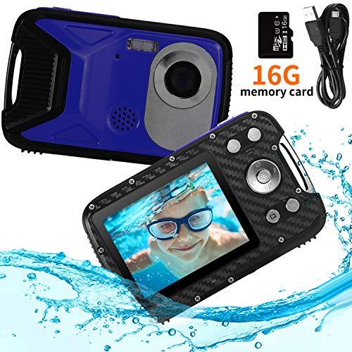 """PELLOR Kinder Digitalkamera, 2,8\"""" LCD HD Wiederaufladbare Mini-Kamera Kinderkamera Wasserdicht Spielzeug Sportkamera Camcorder mit 16GB MicroSD für Indoor Outdoor"""