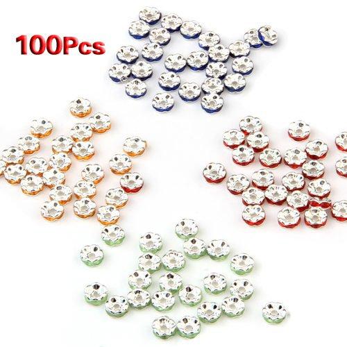TOOGOO(R) 100X Zwischenring Metallperlen Perlen spacer 4 Fa Perle