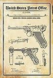 NOI BREVETTO Luger Pistola Pistol 1904 Segno Metallo Piastra Metallica lamiera Targa metallo 20x 30 cm