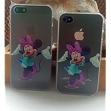 Cute Kids Disney duro transparente TPU espalda Cover- (Minie Mouse) iPhone 6s