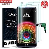 JundD Kompatibel für 3-Pack LG X Power Bildschirm Schutzglas, [Vorgespanntes Glas] [Nicht Ganze Deckung] Kristallklare Sicht in HD-Qualität für LG X Power