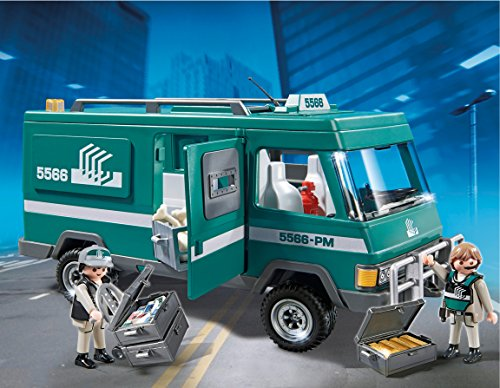 Playmobil-Polica-Vehculo-para-transportar-dinero-playset-5566