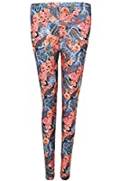 Qed Womens Allover Printed Soft Touch Legging In Size S/M