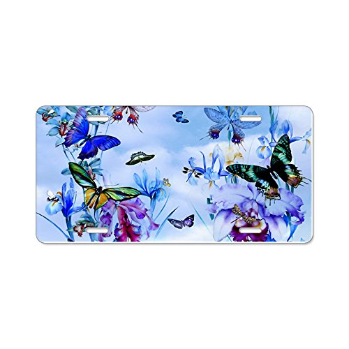 CafePress-Take Flight Schmetterlinge Orc-Aluminium Nummernschild, vorne Nummernschild, Vanity Tag -