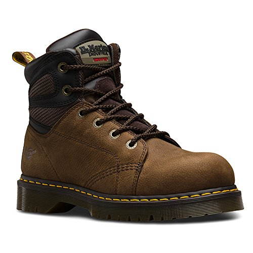 Dr Martens uomo Fairleigh ST6 Eye Lace Up stivali di sicurezza antiscivolo Brown