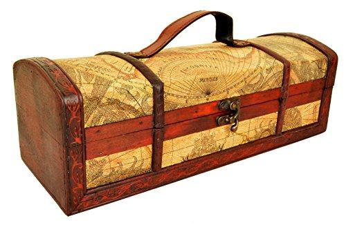 Mappa Design rustico vino Forziere scatola 35cm