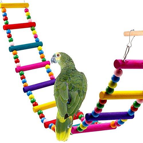 Kingnew Vogel Papagei Spielzeug, Swing Hängende Leiter Sittich Nymphensittich, Haustier Vogel Budgie Lovebird Spielzeug (6 Leitern, 42cm)