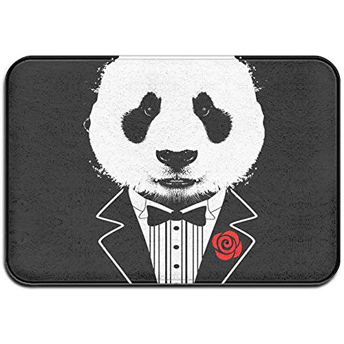 EQP Trading Fußabstreifer,Tuxedo Panda rutschfeste Vordertür Matte Indoor Outdoor Bad Küche Matte Eingang Teppich Fußmatten 40x60cm - Möbel Tuxedo