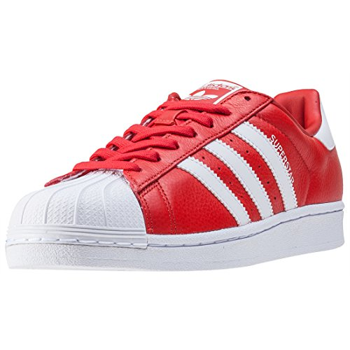adidas Originals Unisex-Erwachsene Superstar Weave Sneakers Red White