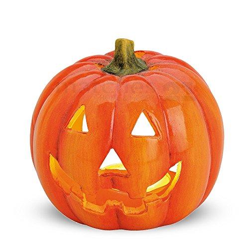 Tolle Herbstdeko Kürbis Windlicht Herbst Dekoration Halloween Türkürbis aus Ton 10x12 (Halloween Tolle Dekoration)