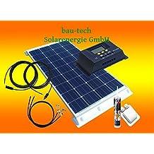 100 Watt Wohnmobil Camping Solaranlage, 12 Volt SET, PV Solarpanel Modul von bau-tech Solarenergie GmbH