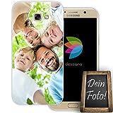 dessana Eigenes Foto transparente Schutzhülle Handy Tasche Case für Samsung Galaxy A7 (2017)