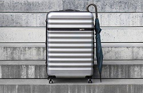 bugatti, Corium Expandable, 4 Doppel-Rollen Kabinen-Hartschalen Koffer, leichter erweiterbarer Trolley, L - 75 cm, TSA Schloss, 98 l, 4.18 kg, silber - 7