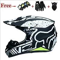 ATEU Motorcycle L-XL Off-Road Helmets Motocross Racing Dirt Bike DOT ATV Gear Hot Helmets (L-56-57cm)