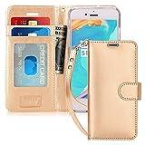 FYY Coque iPhone 6S, Coque iPhone 6, [Or Luxueux] Étui en Cuir de première qualité avec Coverture Toute-Puissante pour iPhone 6/6S Or