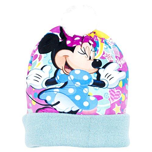 Collection officielle Disney Minnie Mouse filles Bonnet d'hiver Bonnet à pompon–2016 Bleu