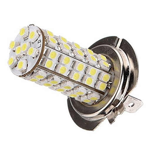 Generic(Unbranded) Xenon 68 SMD Car H7 6000K LED Light bulbs for Fog Driving DRL Headlight Lamp,Blue  available at amazon for Rs.325