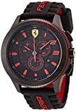 Scuderia Ferrari Mens Quartz Watch, Analogue Classic Display and Silicone Strap 0830138