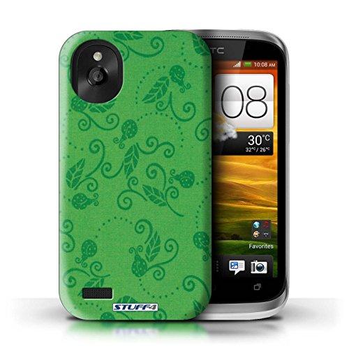 Kobalt® Imprimé Etui / Coque pour HTC Desire X / Pêche conception / Série Motif Coccinelle Vert