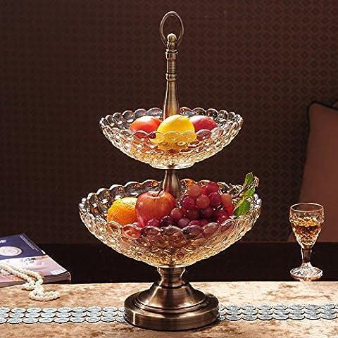 The Golden Apple La società di alta classe taglio italiano in vetro trasparente piatto di insalata//Food Bowl,Limited Edition Serveware