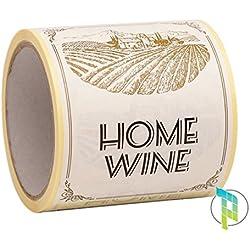 Palucart 100étiquettes pour bouteilles de vin maison Motif Champ 9x 12cm