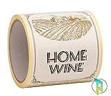 Palucart 100Etiquetas para Vino casereccio Home Wine