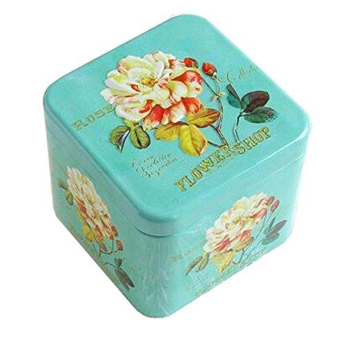 Entz?ckende 3D Entlastung Quadratische S??igkeit-Zinn-Pl?tzchen-Kasten-Geschenk-Kasten Tee-Speicher-Zinn-Kasten, # 05