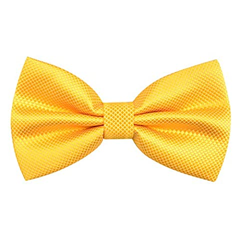 Enjoymore Handsome Mens Pure Plain Bowtie Polyester Pre Tied Wedding