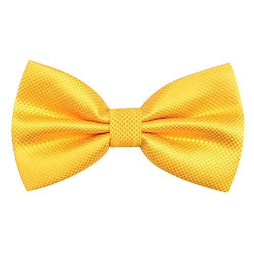Alizeal Einfarbige, vorgebundene Fliege mit verstellbarem Band, Hochzeit, Party Gr. Einheitsgröße (Gelb) -