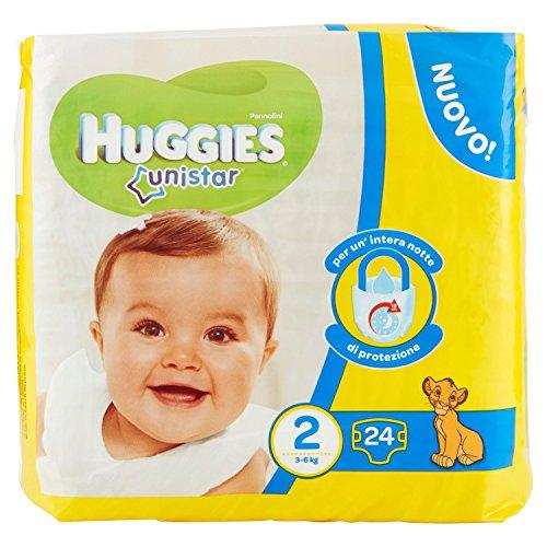 Huggies - Unistar - Pañales - Talla 2 (3-6 kg) - 24 pañales