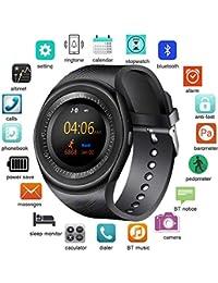 KDSFJIKUYB Pulsera de Actividad Smart Watch Support 2G Tarjeta SIM TF Deporte Salud Música MP3 Reloj