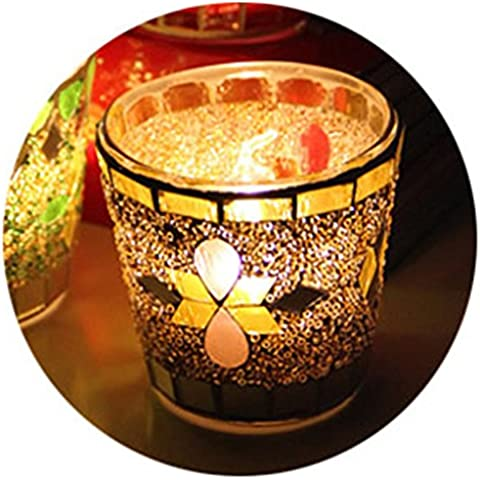 DAXGD In stile europeo mosaico Candeliere vetro