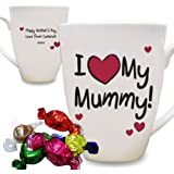 Personalised I Heart Small Latte Mug Cup for Mum Mummy Auntie Nan Nanny Gran Birthday Christmas Mother's Day Present Gift