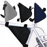 Fahrrad Rahmentasche Fahrradtasche Fahrrad Rahmen Tasche mit Klettverschluß (schwarz)