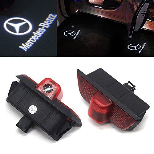 ebuybox 2x Tuerlicht Tuerbeleuchtung Einstiegsbeleuchtung mit Logo 12V Autotuer Projektion Licht (W204 Mercedes)