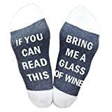 Best Gift Funny Causal Socks Christmas Socks If you can read wine socks Christmas Gift for Lover,friends, Mom and father this Cotton Xmas socks