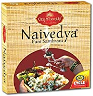 Cycle Naivedya Sambrani with Resin, Benzoin Fragrances - Pack of 4 (12 Cups per Pack)