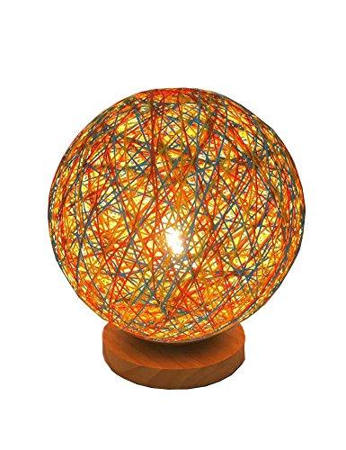 Cozyle Kreative Schlafzimmer Lampe LED Nachtlicht Sepak Takraw Dekorative Tischlampe Orange 28 * 25 * 25