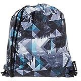 Sportbeutel Bestway Gym Bag Turnbeutel Sportsbag Schuhbeutel + Schlüßelmäppchen (Patterd (Grau))