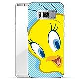 Finoo Samsung Galaxy S8 Hard Case Handy-Hülle mit Looney Tunes Motiv | dünne stoßfeste Schutz-Cover Tasche mit lizensiertem Muster | Premium Case für Dein Smartphone| Tweety Close Up 3