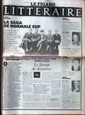 FIGARO LITTERAIRE (LE) [No 13717] du 04/10/1988 - LA SAGA DE NORMALE SUP - SLAMA - ROUSSEL - FREDERICK TRISTAN - P. GRAINVILLE - J.PH. ARROU-VIGNOD - A. BRINCOURT - JEAN CHALON - M. SCHNEIDER.
