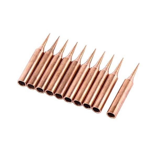 10 piezas 900M-T-I Tipo Cobre Puro sin Plomo Reemplazable Solder Iron Tips