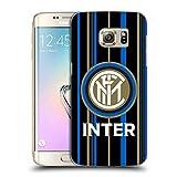 Head Case Designs Ufficiale Inter Milan Strisce 2018/19 Crest Cover Dura per Parte Posteriore Compatibile con Samsung Galaxy S7 Edge