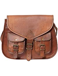 Pranjals House Unisex Genuine Leather Sling Shoulder Bag Size (H) 10 Inch (L) 13 Inch