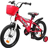 Hollicy Fury 16 Plastic Bicycle, Kids 16-inch (Red/White)