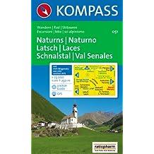 Naturns/Naturno, Latsch/Laces, Schnalstal/Val Senales 1 : 25 000: Wandern / Rad / Skitouren. Escursioni / bike / sci alpinismo. GPS-genau