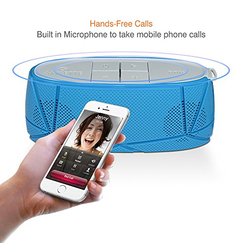 Amkette Trubeats Sonix 835BL Hi-Fidelity Bluetooth Portable Speaker (Blue/Grey)