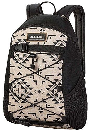 Dakine Wonder Polyester-Rucksack, 15 l, schwarz/Sandfarben, 600D, Seitentasche, Reißverschluss - 600d Polyester Rucksack